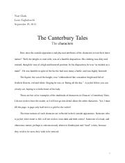 The Canturbury Tales (Character Analysis)