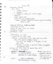 Notes- Advertising Planning