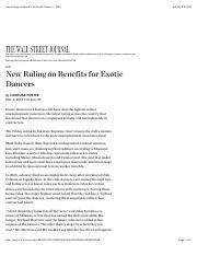 New Ruling on Benefits for Exotic Dancers - WSJ.pdf
