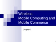 Chpt 7 Wireless Technologies