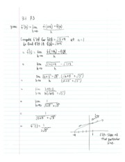 Calculus1 Notes 4 Derivatives