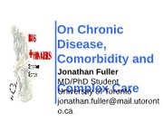 Notes for Chronic Disease Guest Lecture 2012