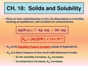 Ch. 18 Solubility Powerpoint Overview