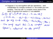 lecture4 complex vector spaces