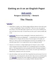 Getting an A on an English Paper - For THESIS.docx