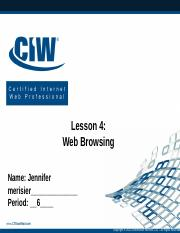 Lesson 4 - Web Browsing PPT Exercise