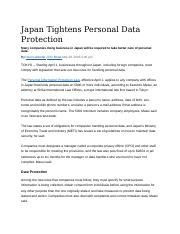 Japan Tightens Personal Data Protection.docx