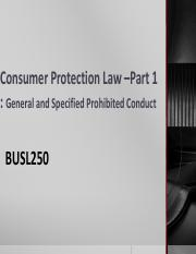 Lecture 10 Consumer Protection 1