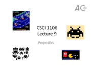 CSCI 1106 Projectiles