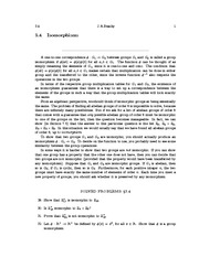 Isomorphisms Details and notes