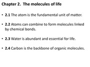 2.1-2.4 atoms, molecules, bonds, water, and carbon
