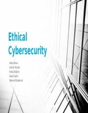 Ethical Cybersecurity