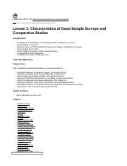 stat notes Lesson 3 Characteristics of Good Sample Surveys and Comparative Studies.pdf