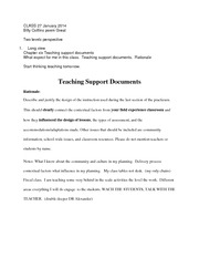 Teaching Support Documents