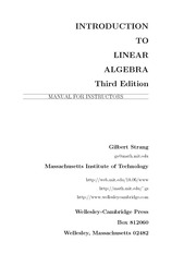 Strang G. Solutions manual.. Introduction to linear algebra (3ed., 2002)(78s)