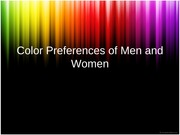 Color Preferences of Men and Women, Clothing and Accessories, Market Products, Business, Color Effec