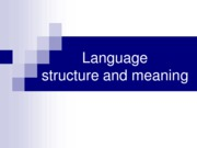 -Language+structure+++meaning