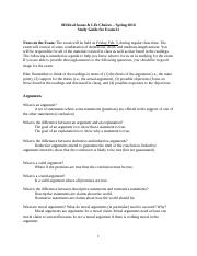 Exam 1 Study Guide Ethical Issues Spring 2016.docx