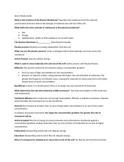 Quiz 2 Study Guide