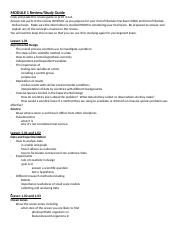 Module 1 Exam Review Docx Module 1 Review Study Guide Copy And Paste This Review Guide Or Print It Out Answer All Parts Of The Review In Detail As You Course Hero