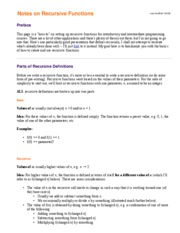 notes-recursion