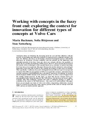 Backman-Borjesson-Setterberg-2007-Working-with-concepts-in-the-fuzzy-front-end