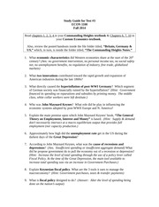 Study Guide Test #3 Fall 2014