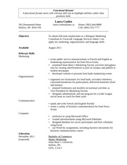 Sample Functional Resume for Blackboard