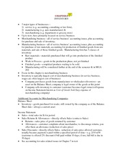 Chapter 7 Study Notes - Inventory