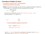 Correction to Part d, Problem 25, Assignment 2.