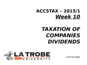 ACC5TAX S1 2015 Week 10 Companies and Dividends Livia Gonzaga LMS