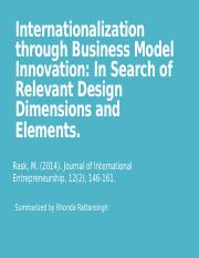 Internationalization through Business Model Innovation_ In Search of Relevant Design Dimensions and