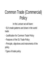 Lec11_Common Trade Policy