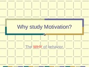 Why study Motivation