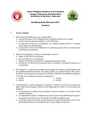 Qualifying Exam Reviewer 2017 - Taxation.pdf