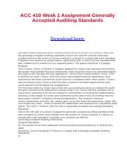 ACC 410 Week 1 Assignment Generally Accepted Auditing Standards.docx