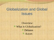 Globalization+and+Global+Issues