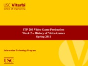 week 2 - History of Games Spring 2011