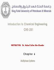 CHE201 - Chapter 6 Dr. Nabeel Abo-Ghander Notes