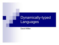Dynamically-typed