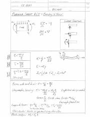 Formula Sheet 4 & 5- Bending and Shear