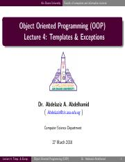 Lecture04 - Templates & Exceptions.pdf