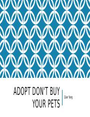 Adopt don't buy your pets ppt.pptx