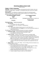 Marketing Midterm Study Guide