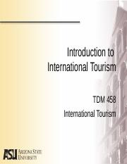 Lecture 1 - Intro to International Tourism - BB