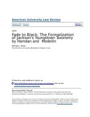 Fade to Black- The Formalization of Jacksons Youngstown Taxonomy.docx