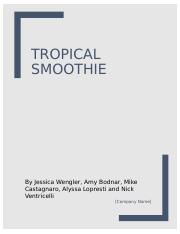 Tropical Smoothie Project .docx