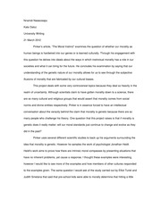 Essay on Pinker article