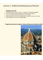 Lecture 2  150921 Early Renaissance Florence