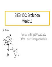 BIEB 150 Section, Week 10 Email